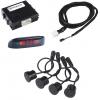 Digital Parking Sensor Kit (4-units) with LED Display, 8-FT sensitivity outside mount.